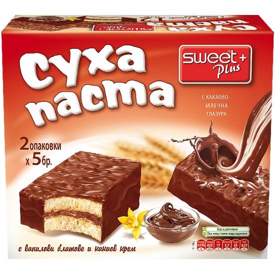 СУИТ+ СУХА ПАСТА 300Г ВАНИЛИЯ КАКАОВ КРЕМ