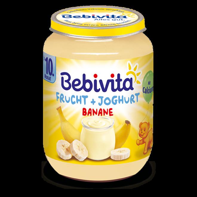 БЕБЕВИТА БИО ПЮРЕ ЙОГУРТ БАНАНИ 190Г