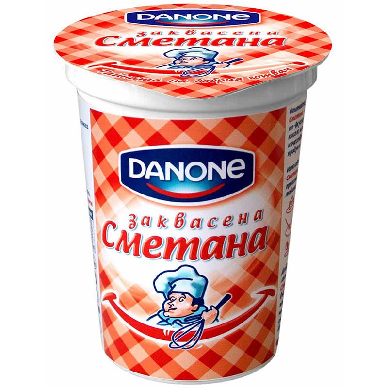 ДАНОН СМЕТАНА ЗАКВАСЕНА 380Г