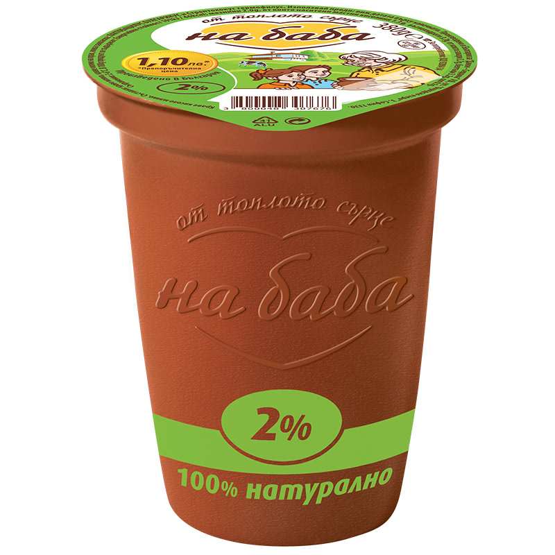 НА БАБА КИСЕЛО МЛЯКО 380Г 2%