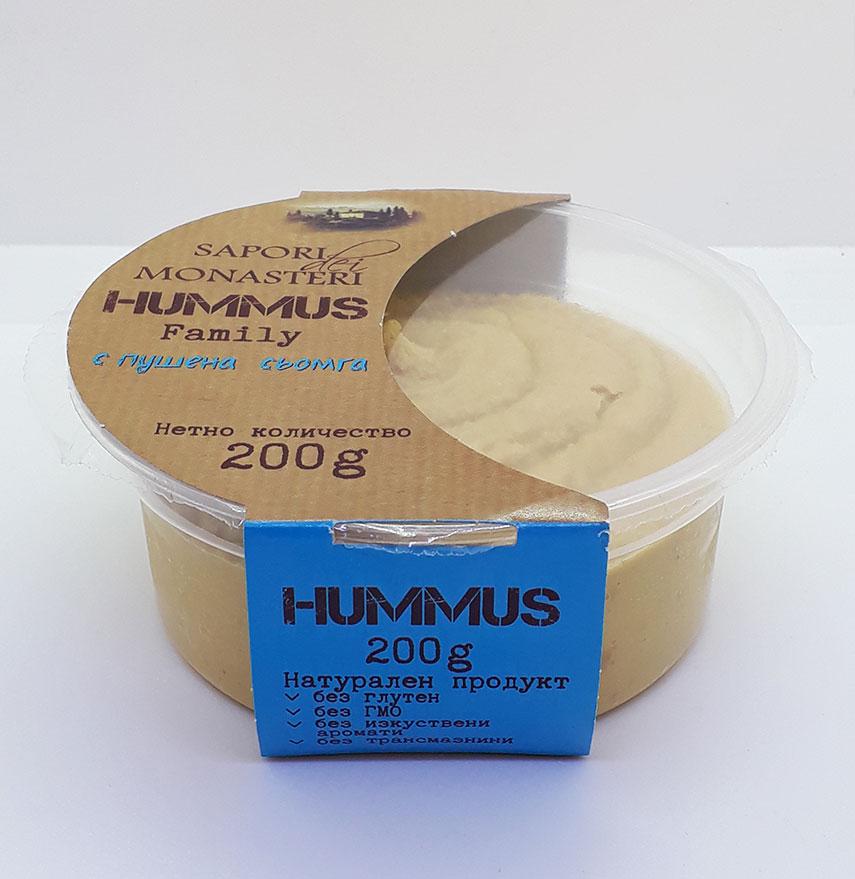 Сапори Хумус с Пушена Сьомга 200г