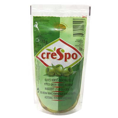 Креспо Зелени Маслини без Костилка PVC 170г