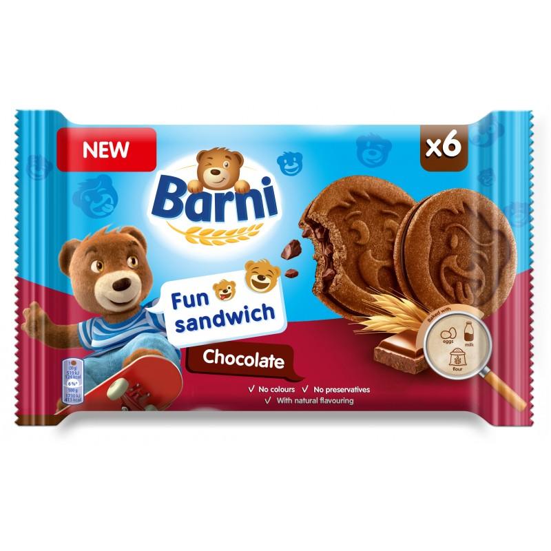 Барни Кекс Сандвич Шоколад 180г
