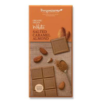 Бенджамисимо Бял Веган Шоколад Солен Бадем 70г