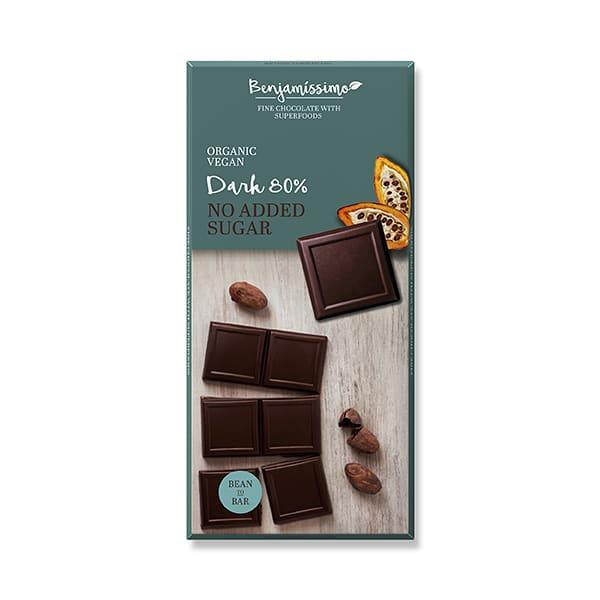 Бенджамисимо Био Веган Шоколад Натурален 80% без Захар 70г