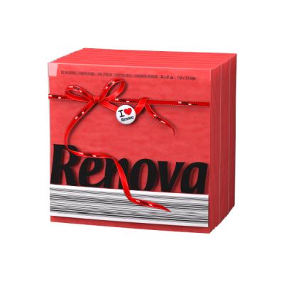 Ренова Салфетки Червени Тип Е 320х330мм 70бр