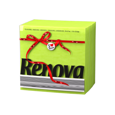 Ренова Салфетки Зелени Тип Е 320х330мм 70бр
