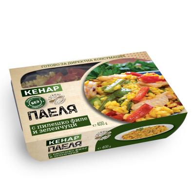 Кенар паеля пиле и зеленчуци 400г