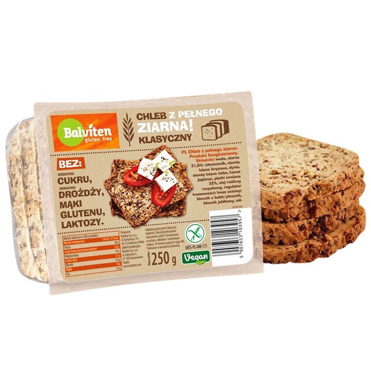 Балвитен Безглутенов Хляб Веган Пълнозърнест 250г