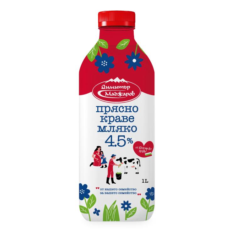 Маджаров Прясно Мляко 4.5% 1л