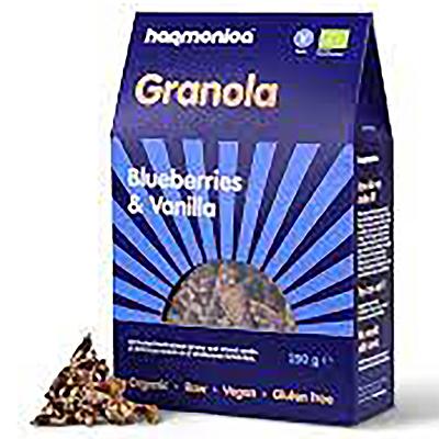 Хармоника гранола био боровинки и ванилия 250г