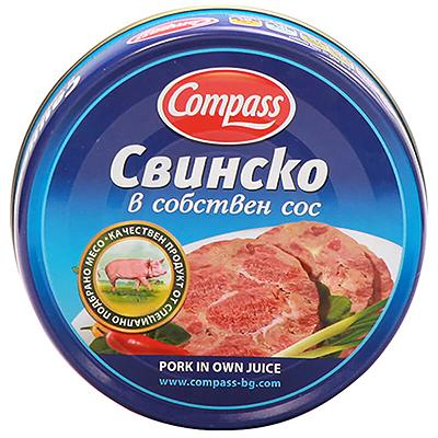 КОМПАС КОНСЕРВА 180Г СВИНСКО СОБСТВЕН СОС